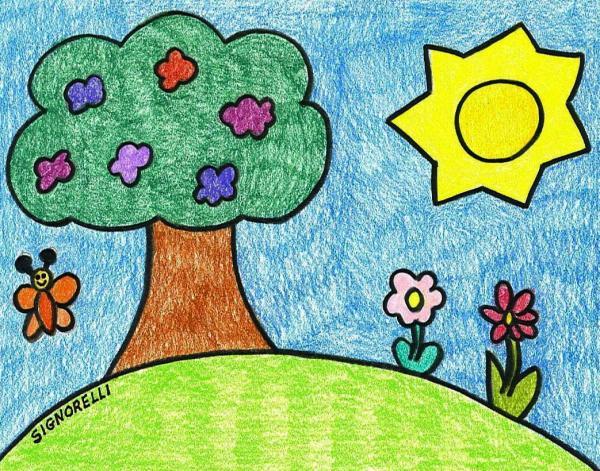 Garden drawing by francesca signorelli spring garden fine art prints