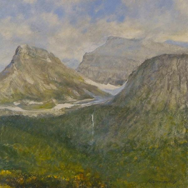 Spring in Glacier National Park Painting
