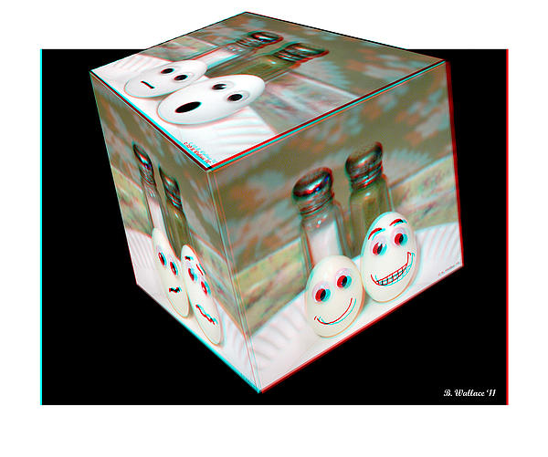 Square Meal - Use Red-cyan 3d Glasses Photograph  - Square Meal - Use Red-cyan 3d Glasses Fine Art Print