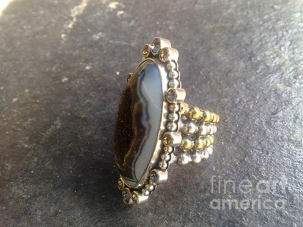 Ss Ring Contemporary With Drusy Jewelry