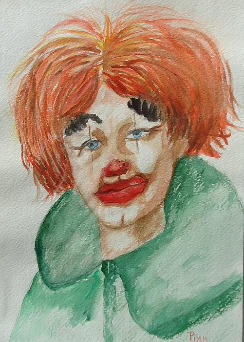 Ssend In The Clown Print by Betty Pimm