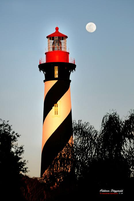 St. Augustine Lighthouse Print by Addison Fitzgerald