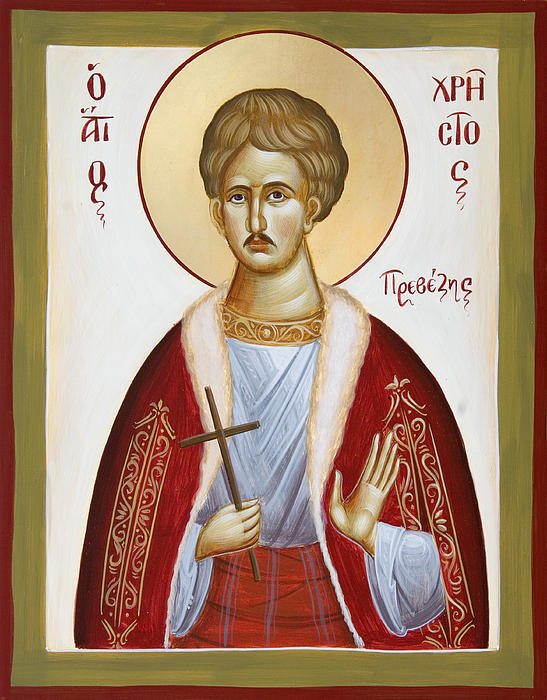 St Chrestos Of Preveza Print by Julia Bridget Hayes