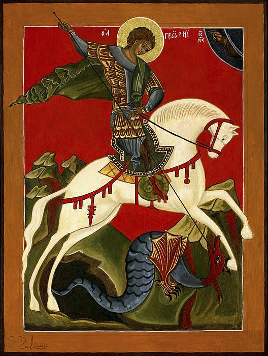 St George And The Dragon Print by Raffaella Lunelli