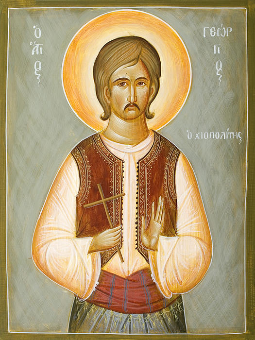St George The New Martyr Of Chios Print by Julia Bridget Hayes