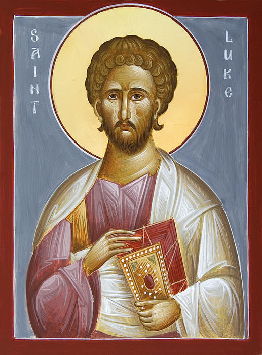 St Luke The Evangelist Print by Julia Bridget Hayes