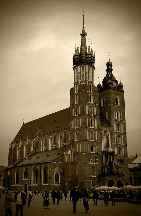 St. Mary's Basilica Print by Kamil Swiatek