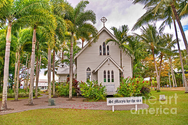 St Mary's By The Sea Print by Bob and Nancy Kendrick