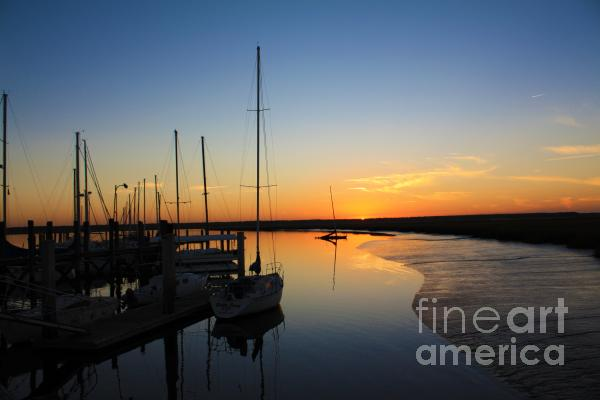 St. Mary's Sunset Print by M J Glisson