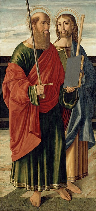 St. Paul And St. James The Elder Print by Cristoforo Caselli