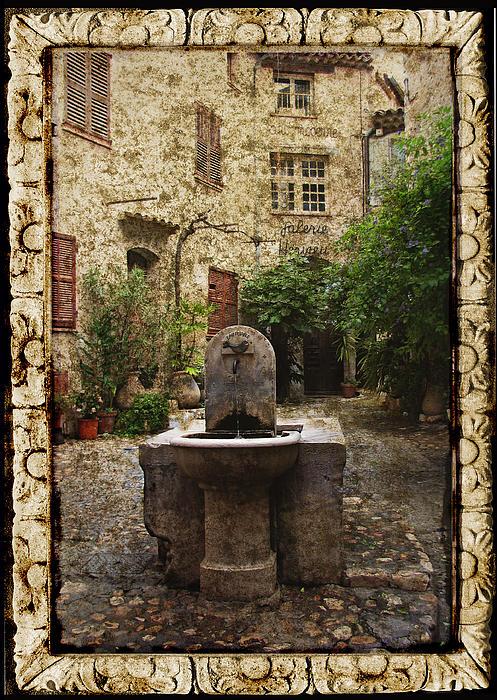 Carla Parris - St. Paul de Vence Fountain Textured Version