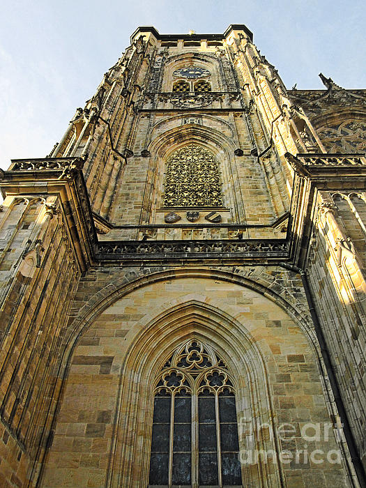 St Vitus Cathedral Prague - The Realms Of 'non-being' Print by Christine Till
