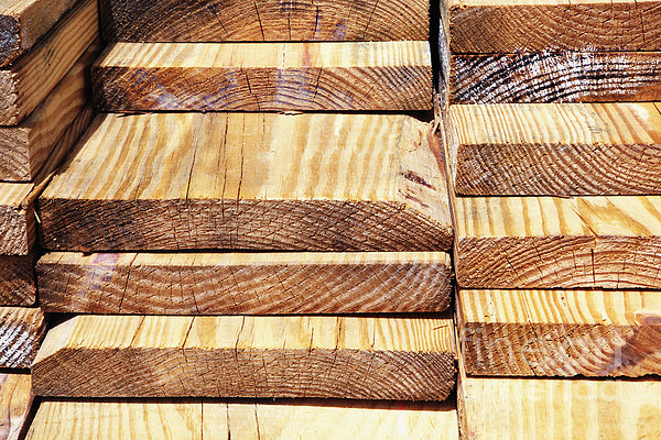Stacked Wooden Planks Print by Skip Nall