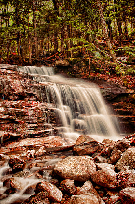 Stairs Falls Print by Heather Applegate