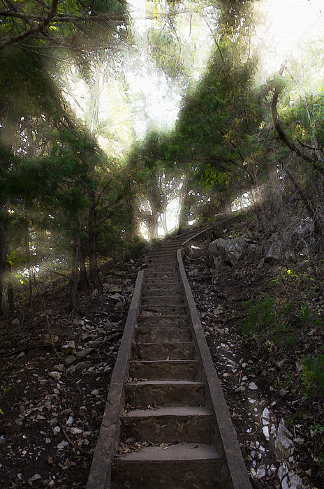 Stairway To Heaven Print by Ricky Barnard