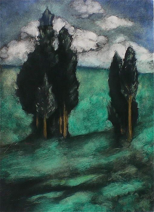 Stand Of Trees Mixed Media  - Stand Of Trees Fine Art Print