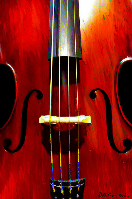Stand Up Bass Print by Bill Cannon