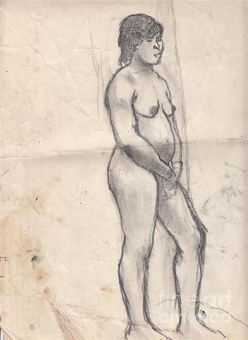 Standing Nude Print by Brian Francis Smith