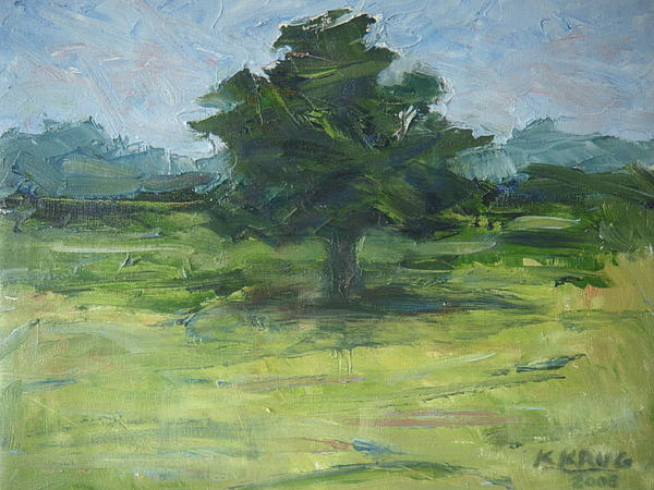 Standing Tree Print by Ken Krug