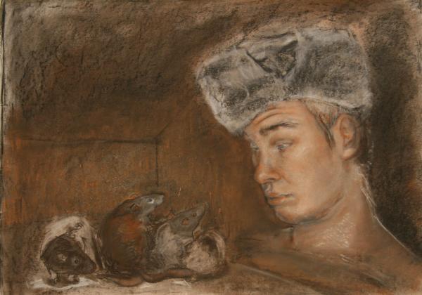 Stanislav And 4 Print by Danielle Wilbert