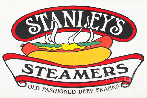 Stanley's Steamers Hot Dog Sign - 5d17929 - Painterly Print by Wingsdomain Art and Photography