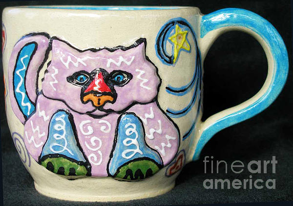 Star Kitty Mug Print by Joyce Jackson