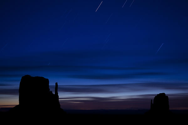 Star Trails Over The West Print by Andrew Soundarajan