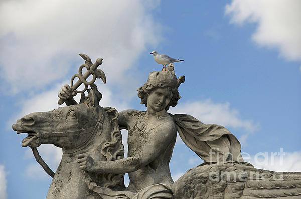 Statue . Place De La Concorde. Paris. France Print by Bernard Jaubert