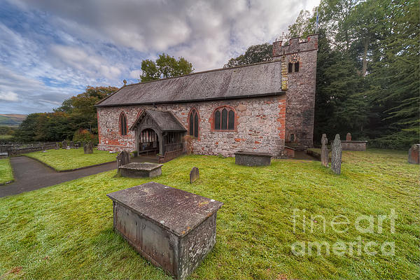 St.dyfnog's Church Print by Adrian Evans