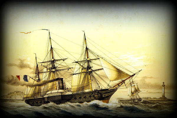 Steam Frigate Photograph  - Steam Frigate Fine Art Print