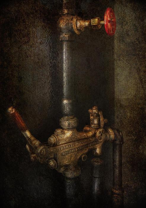 Steampunk - Plumbing - Number 4 - Universal  Print by Mike Savad