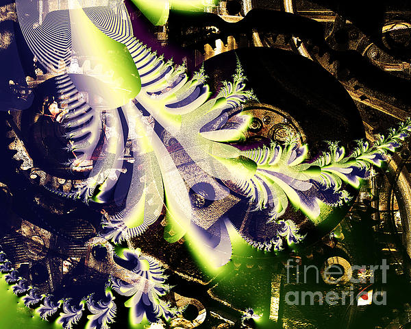 Steampunk Abstract Fractal . S2 Print by Wingsdomain Art and Photography