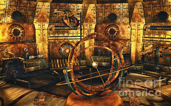 Steampunk Time Lab Print by Jutta Maria Pusl