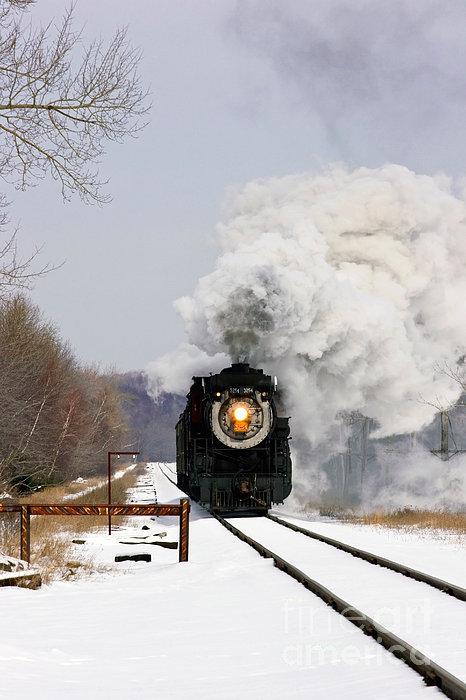 Steamtown Excursion Train Print by Michael P Gadomski and Photo Researchers