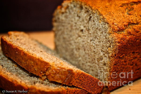 Steamy Fresh Banana Bread Print by Susan Herber