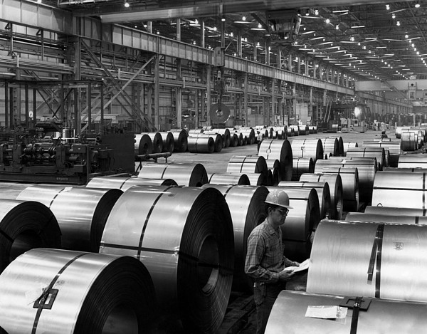 Steel Mill Print by Everett