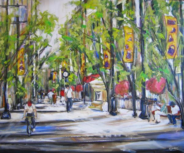 Stephen St View- Calgary Painting  - Stephen St View- Calgary Fine Art Print