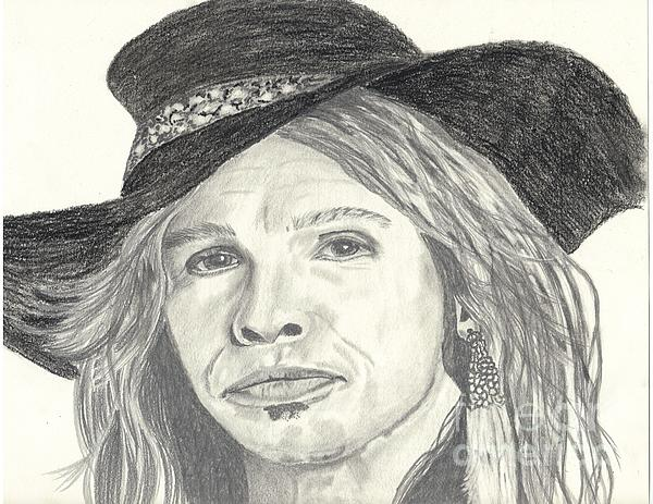 Stephen Tyler Print by DebiJeen Pencils