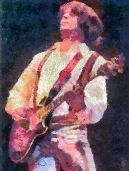 Steve Miller 1978 Print by Russ Harris