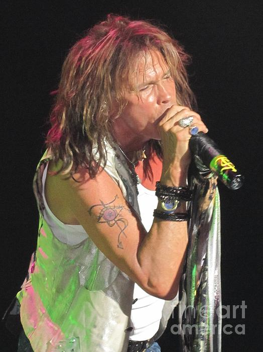 Steven Tyler Concert Picture Print by Jeepee Aero