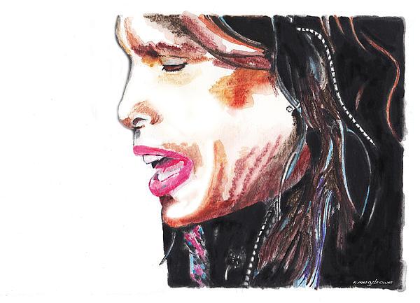 Steven Tyler Print by Nancy Mergybrower