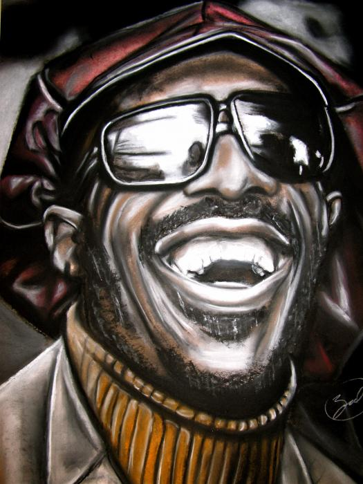 Stevie Wonder Drawing  - Stevie Wonder Fine Art Print