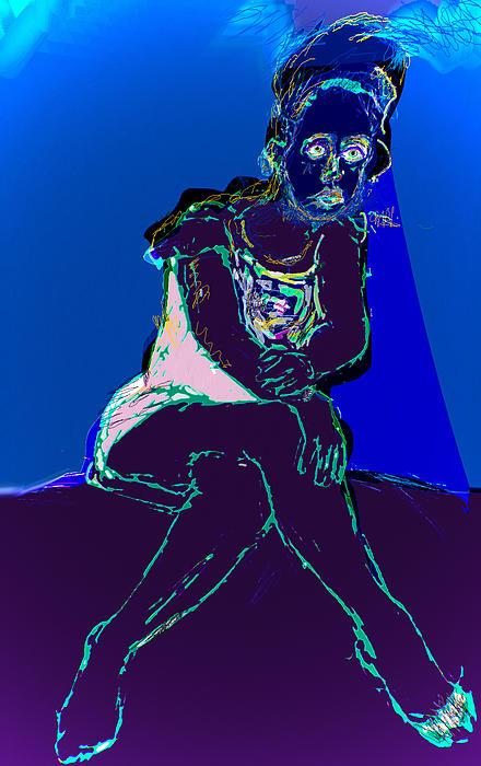 Still In The Blues Print by Noredin Morgan