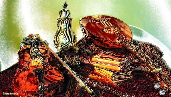 Still Life. Musical Instruments.  Print by Tautvydas Davainis