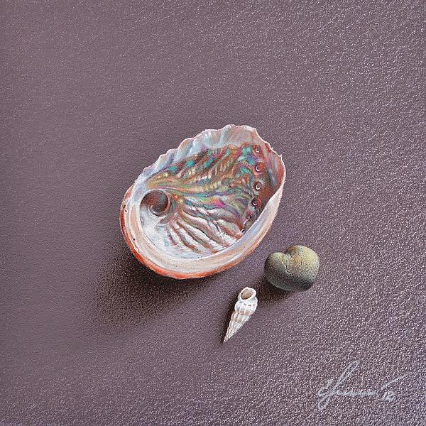 Still Life With Abalone Shell Print by Elena Kolotusha