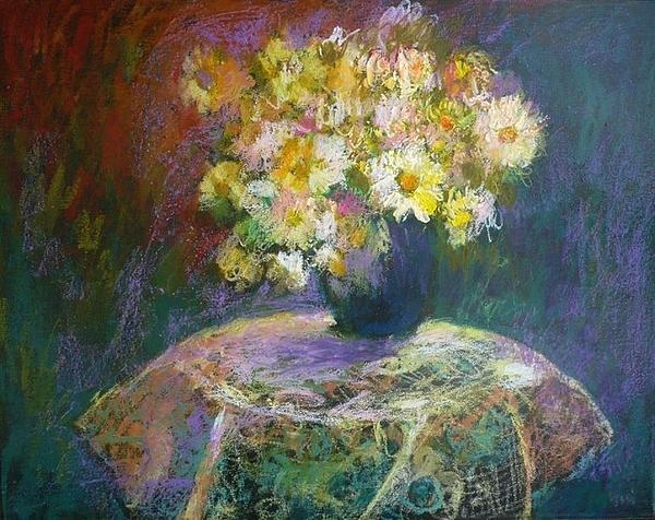 Demeter Gui - Still-life with flowers