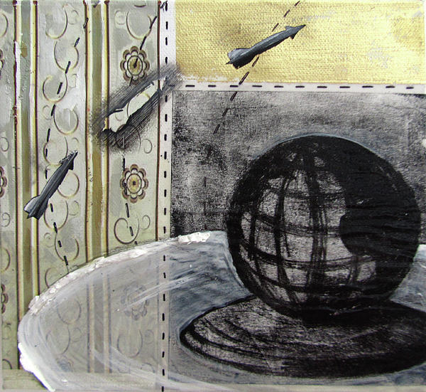 Still Life With Globe Mixed Media