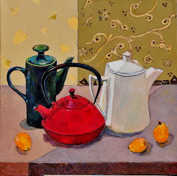 Liubov Meshulam Lemkovitch - Still life with teapots