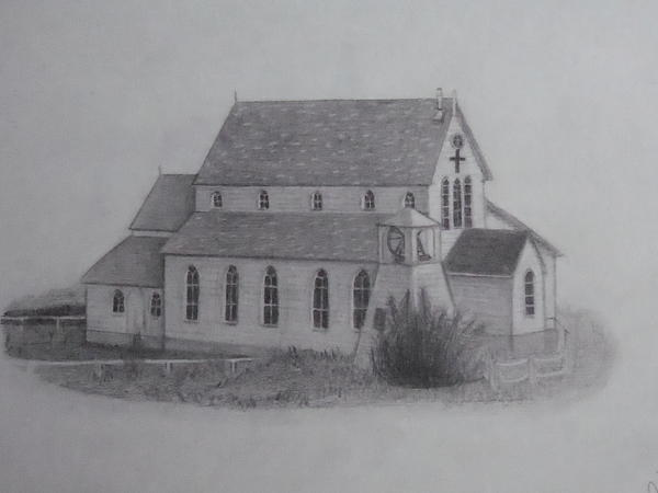 St.margarets Anglican Church Change Islands Drawing