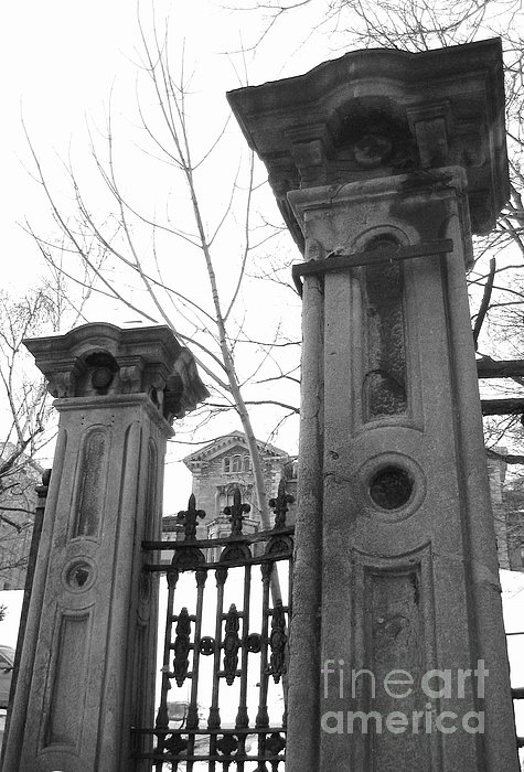 Stone Pillars Print by Reb Frost